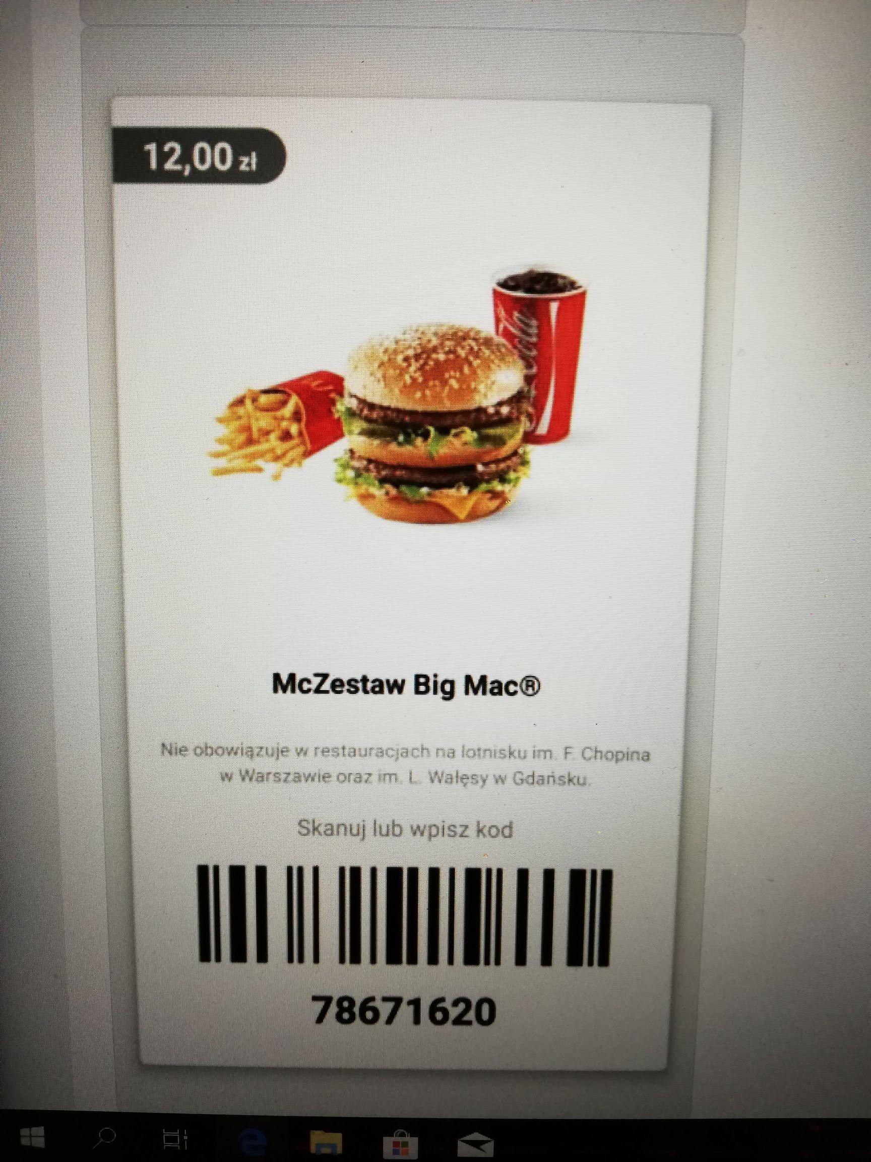 McZestaw Big Mac