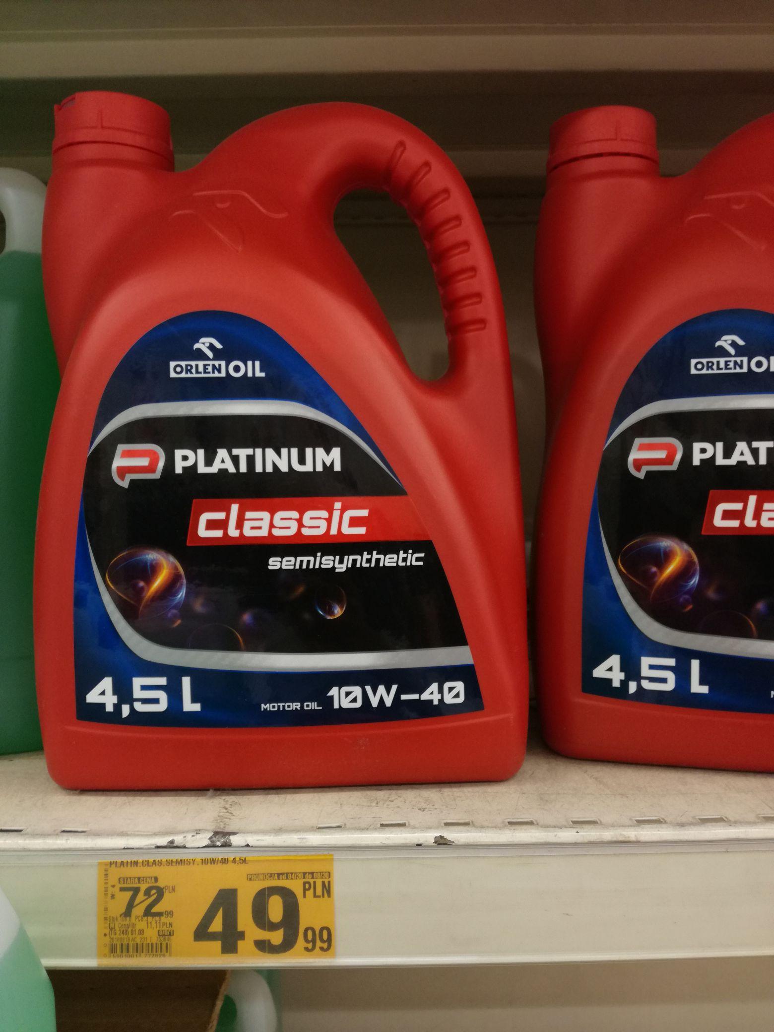Olej Orlen Platinum Classic 4,5 litra Auchan Żory