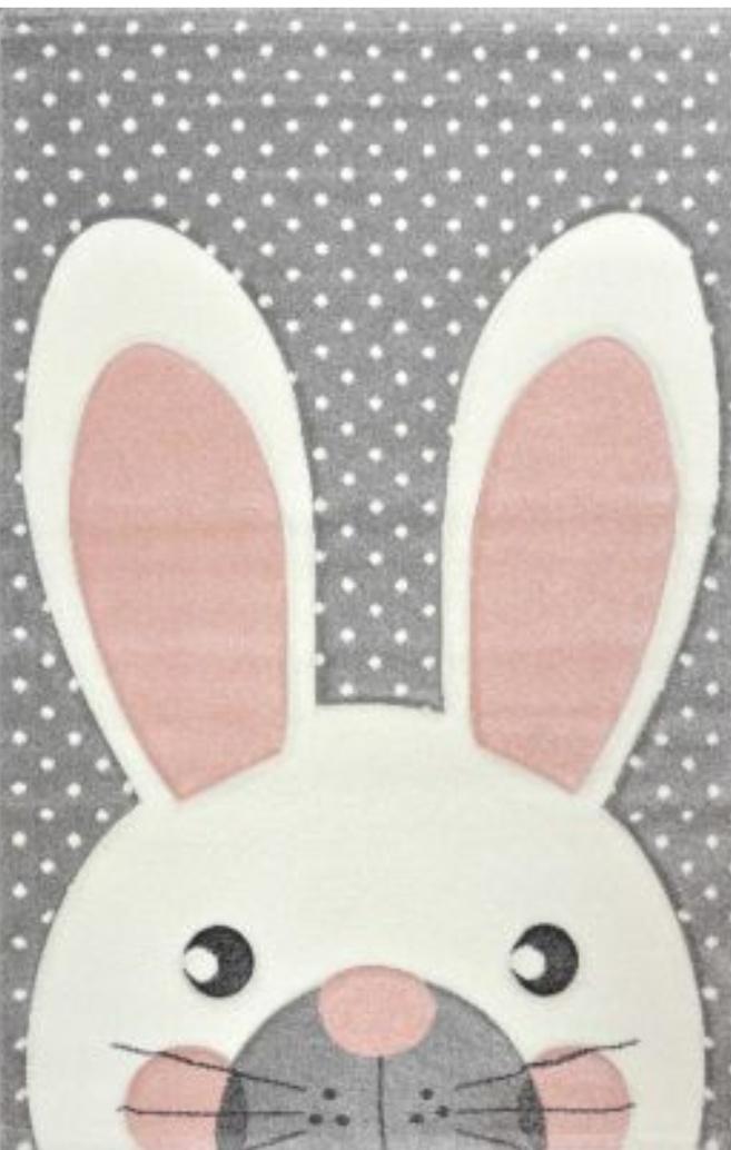 Dywan dla dziewczynki śliczny królik 3D
