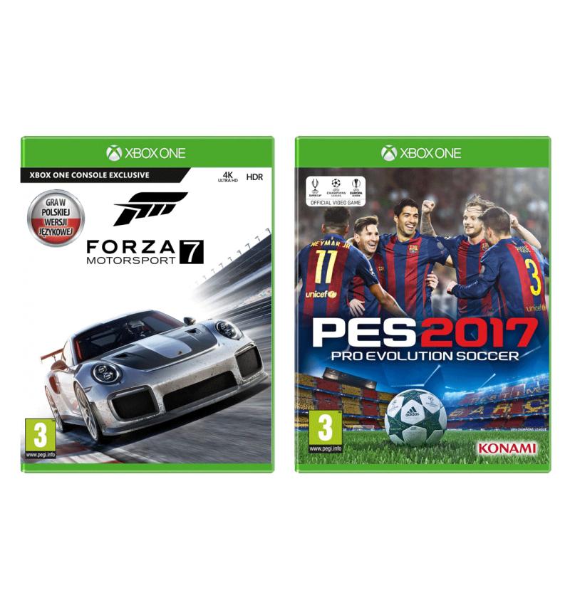 Forza Motorsport 7 + PES 2017 - zestaw gier w wersji pudełkowej w dobrej cenie!