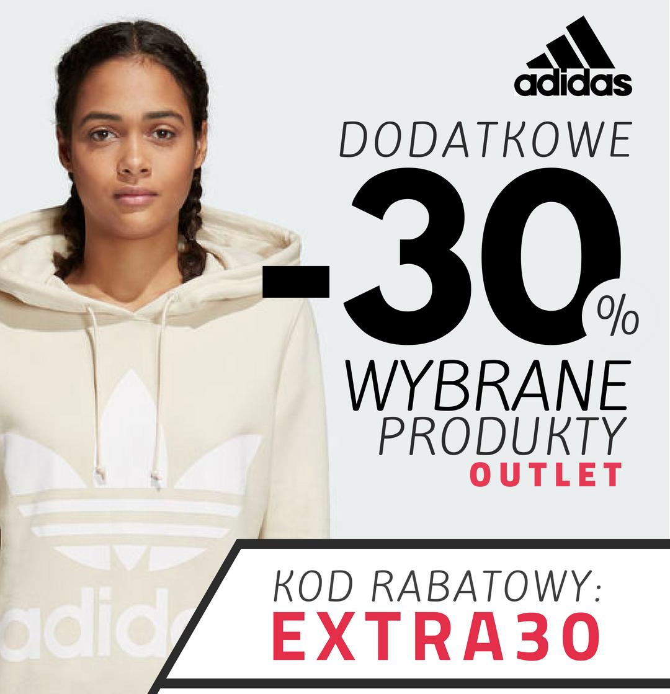 Adidas - Dodatkowe -30% na wybrane produkty OUTLET