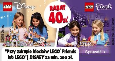 Klocki LEGO Friends i Disney Princess - 40zł w Smyk