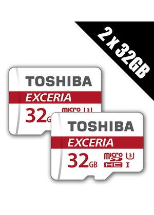 2 x Toshiba 32 GB EXCERIA U3 C10