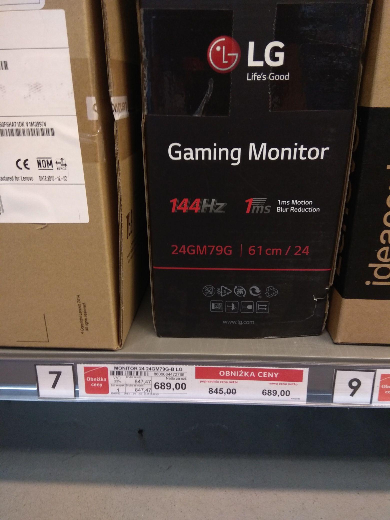 Monitor gamingowy LG 24gm79g 144hz 1ms selgros