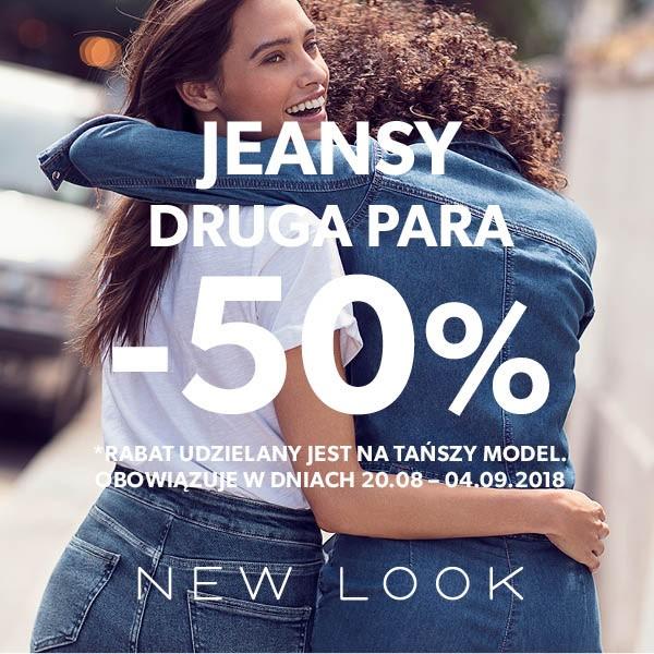 -50% na drugą parę dżinsów @ New Look