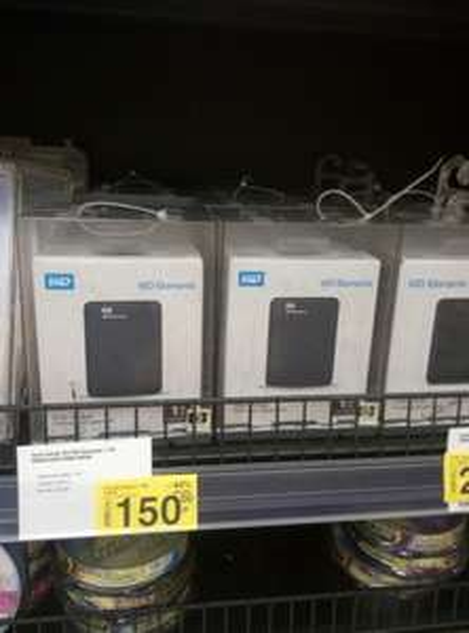"""Dysk zewnętrzny 2,5"""" 1TB USB 3.0 WD Elements Carrefour Katowice CH Dąbrówka"""