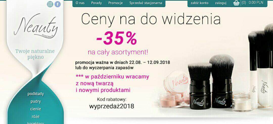 Kosmetyki naturalne Neauty Minerals -35% na cały asortyment