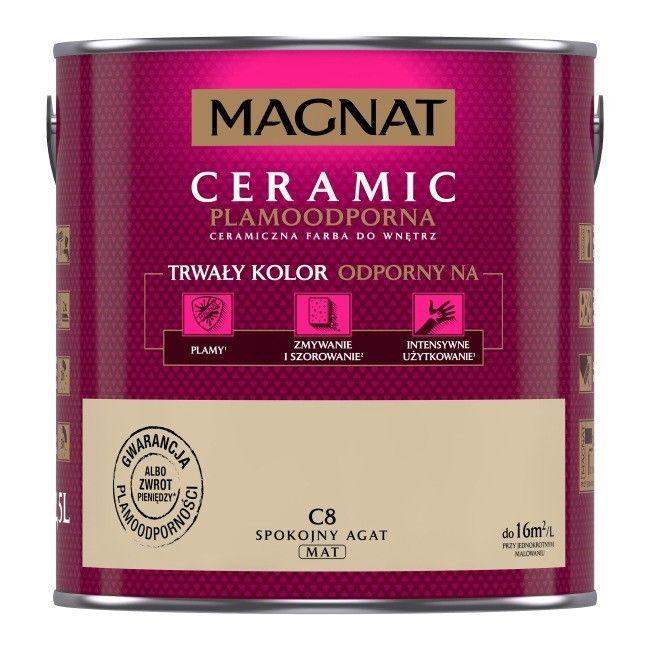FARBA MAGNAT CERAMIC 2,5L + Farba tablicowa 0,4L za 1 zł CASTORAMA