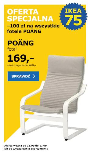 IKEA kultowy fotel POANG wszystkie modele -100!