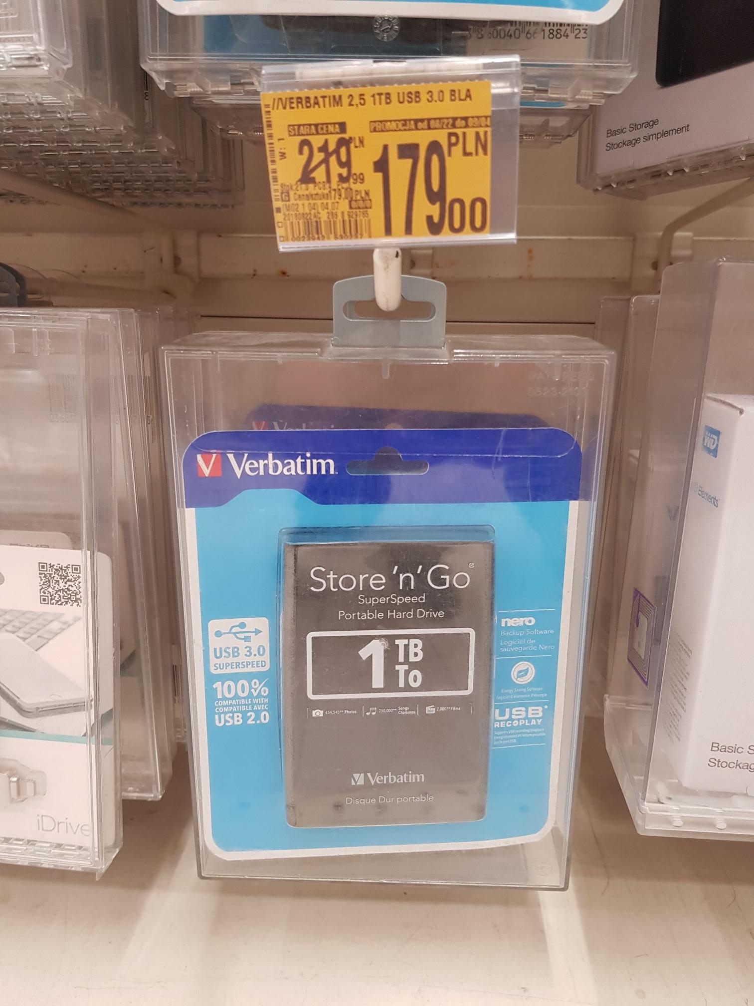 Dysk zewnętrzny Verbatim 1TB usb 3.0 2,5 cal