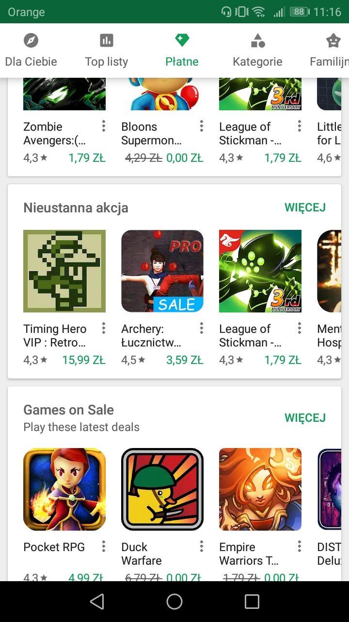 3 Darmowe gry na Google Play