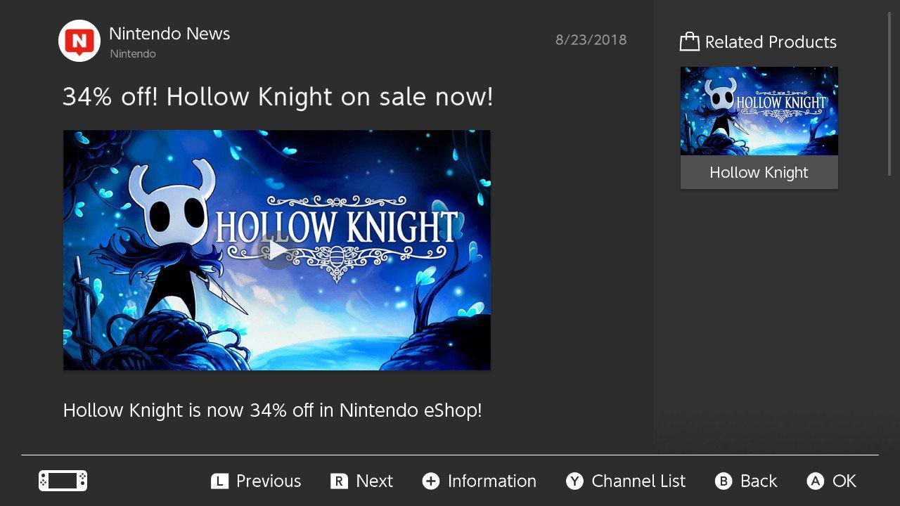Hollow Knight na Nintendo Switch w promocji + darmowe DLC