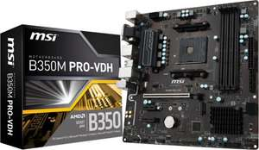 MSI B350M PRO-VDH AMD Ryzen