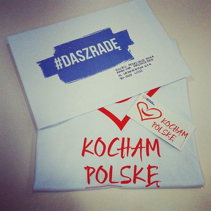 """Koszulka """"Kocham Polskę"""" za darmo"""