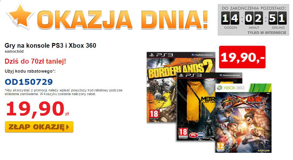 Borderlands 2, Metro Last Light, Street Fighter X Tekken (PS3/X360) za 19,90zł @ Euro