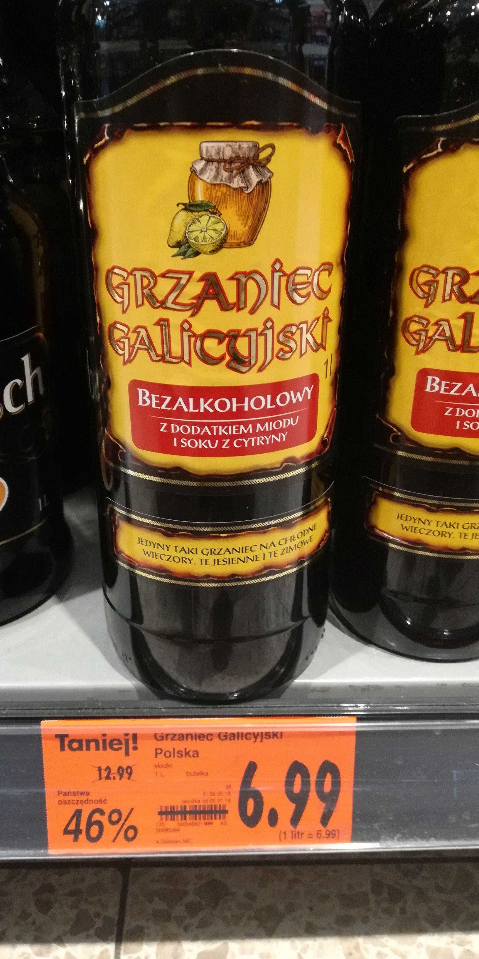 Kaufland 1 litr grzaniec Galicyjski bezalkoholowy