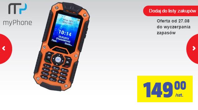Wodoodporny telefon MyPhone Hammer za 149zł @ Biedronka