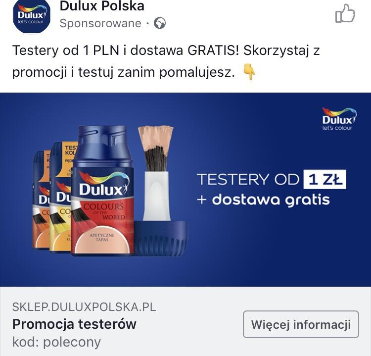 Testery Dulux ponownie za 1 zł!