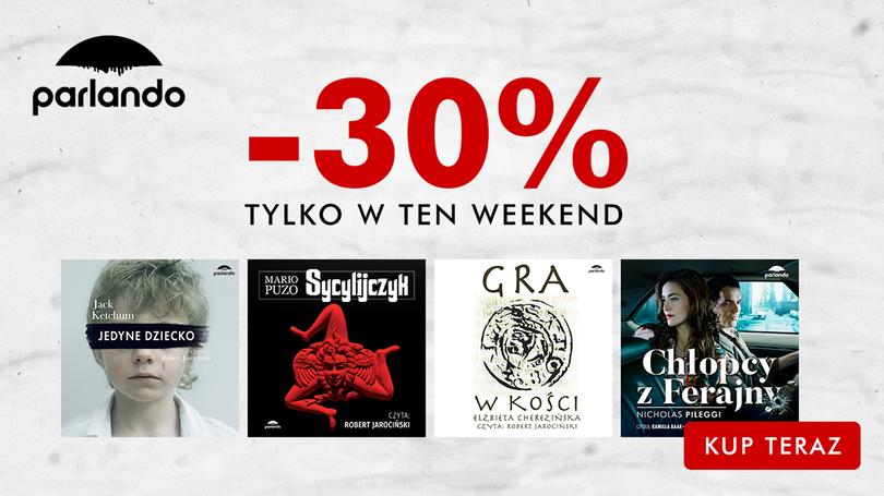 12 wybranych audiobooków Wydawnictwa Parlando do 27 sierpnia 30% taniej
