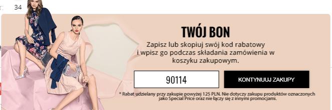 Orsay -20 zł za zakupy pow.125zł, działa na wyprzedaż i darmowa wysyłka