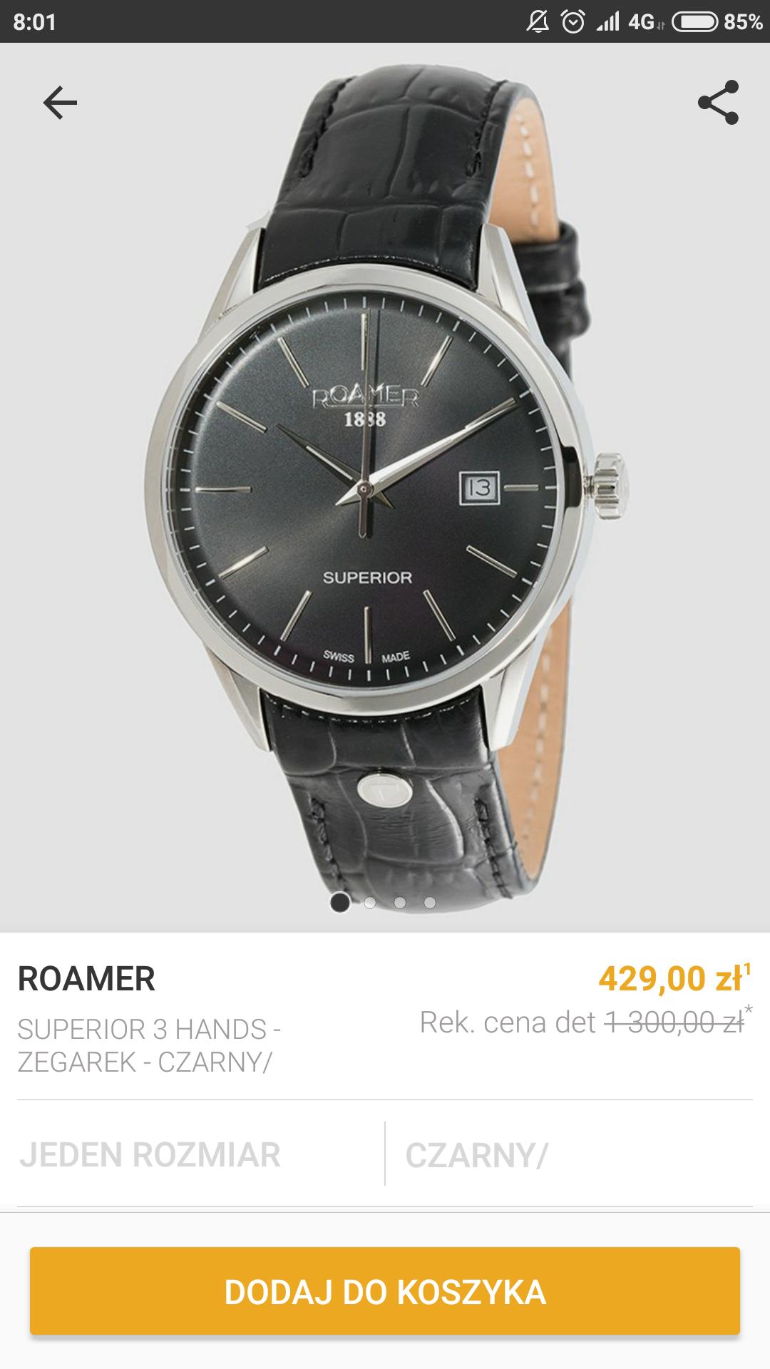 Zegarek męski ROAMER 508833 41 55 05