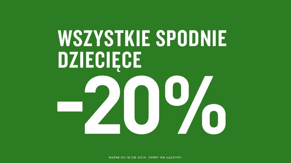 3 w cenie 2 oraz -20% na wszystkie spodnie dziecięce @ KappAhl