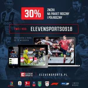Eleven sports -30% na pakiet półroczny/roczny