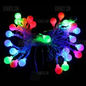Lampki świąteczne wodoodporne 4 metry - 28 LED RGB