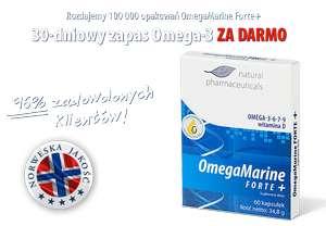Darmowe opakowanie suplementu omega-3 - OmegaMarine Forte+