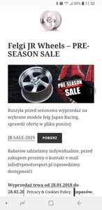 Promocja na felgi do auta Japan Racing do 50 % off