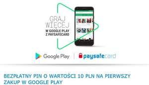 10 PLN od PaySafeCard do wykorzystania w Google Play na pierwszy zakup!