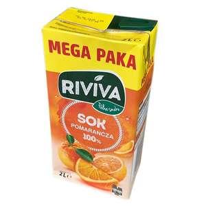 Sok pomarańczowy Riviva 2L przy zakupie dwóch opak. Biedronka
