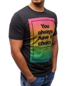 T-shirt męski z nadrukiem
