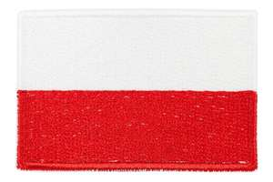 Naszywka flaga Polska 60x38 mm