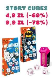 Gry planszowe/planszówki taniej od 35-60%, Story cubes poniżej 10 PLN.