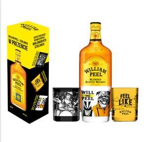 Zestaw William Peel 0.7l 40% + szklanka.