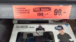 Samochód z kamerą WI-FI i okularami VR LIDL