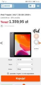"iPad 7 Apple | 10,2"" | 32 GB | 2019 r."