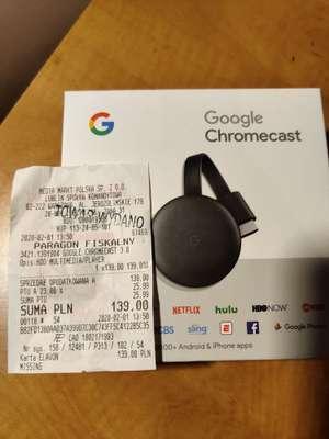 Google Chromecast 3.0 (Oryginalne pudełko)