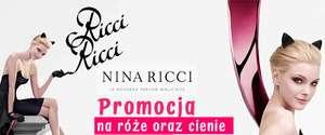 Promocja na cienie do powiek, róże i pomadki Nina Ricci w drogerii internetowej www.paatal.pl