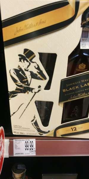Black Label 0,7 + szklanki Leclerc
