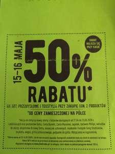 Biedronka - 50% rabatu na art. Przemysłowe i tekstylia