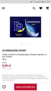 Mydło FA Energizing Sport - mydło w kostce