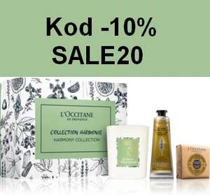 10% zniżki z kodem SALE20 na kosmetyki z wyprzedaży @L'occitane