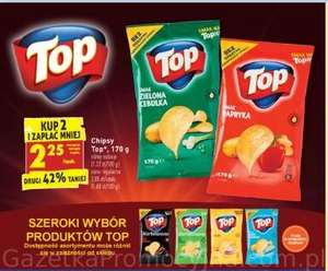 Chipsy Top Chips 170g różne rodzaje przy zakupie 2 opak. @Biedronka
