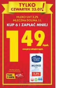 Mleko UHT 3,2% 1l po 1,49 zł przy zakupie 6 opak. @biedronka