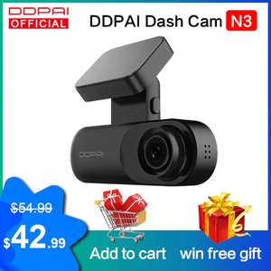 Kamera samochodowa DDPai Mola N3 Dash Cam 1600p z wysyłką z Polski @AliExpress