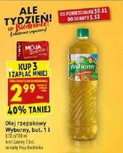 Olej rzepakowy Wyborny 1l. Biedronka
