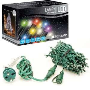Lampki choinkowe LED na zewnątrz - 100 LED 10mb - multikolor @eled