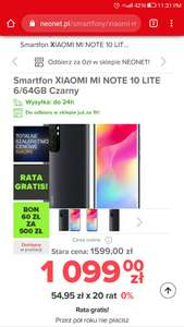 Xiaomi mi note 10 lite 6/64 (1rata gratis 1045zl i kupon 120/200)